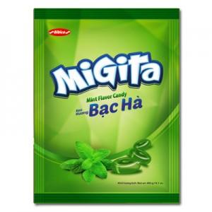 Kẹo cứng Migita Bạc Hà túi 400 gam