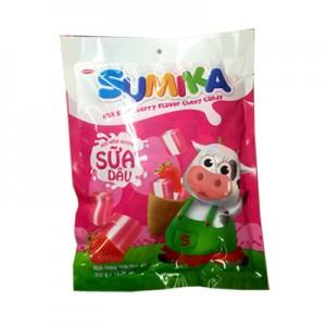 Kẹo mềm Sumika Sữa dâu túi 70 gam